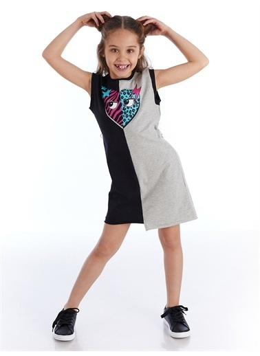 Mushi Star Leo Kız Elbise Renkli